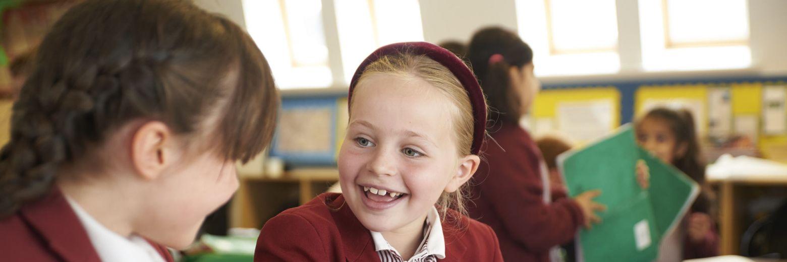 Happy students at school